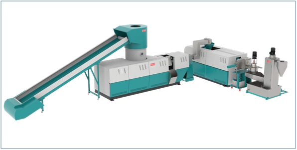 Fully Automatic Plastic Recycling Machine